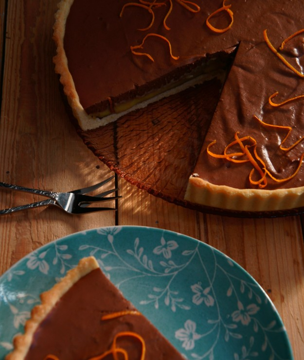 Chocolate Mousse & Orange Curd Tart