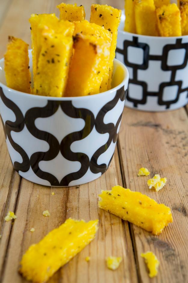 Polenta Parmesan Chips